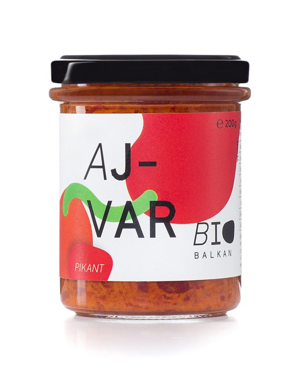 Bio Ajvar pikant Glas BioBalkan