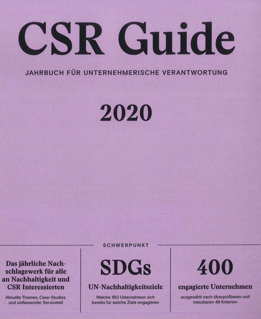 BioBalkan im CSR Guide 2020, dem Jahrbuch für unternehmerische Verantwortung